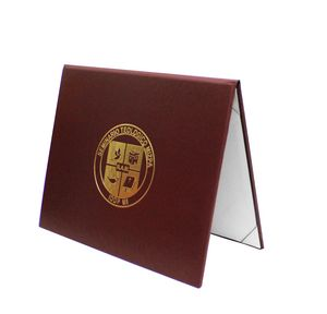 Custom Turned Edge Leatherette Certificate & Diploma Holder