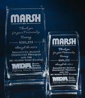 "Lead Crystal Rectangular Vase Award (7"")"