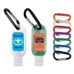Custom 1 Oz. Hand Sanitizing Gel Flip Top Bottle w/ Carabiner
