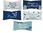 Custom Assorted Sour Candies in Funeral Home wrappers