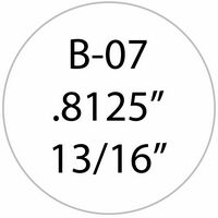 ".8125"" Circle White Vinyl Decals"