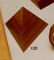 """6""""x6""""x5"""" Large Walnut Pyramid (12d)"""