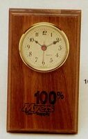 "4""x7"" Walnut Weather Station With Clock (16e)"