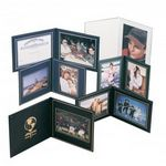 Custom Superior Double Photo/Certificate Frame - Book Style (9 3/4