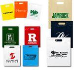 Custom Plastic Bags Reinforced Fold Over Top w/ Die Cut Handles (7 1/2