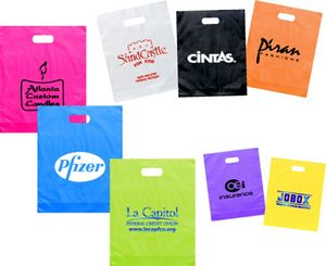 Frosted Die Cut Bags (12x15+3)