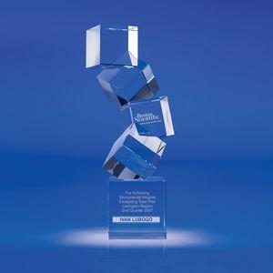 Custom Printed Arabesque Vertical Crystal Awards