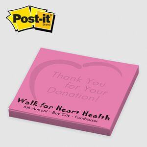 Custom Printed Post-it Notes (3x3) 25 Sheets