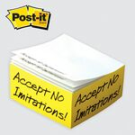 Custom Post-it Custom Printed Half Cube Note Pads (4