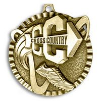 """Cross Country Stock Medal (2"""")"""