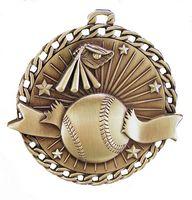 """Baseball Stock Medal (2"""")"""