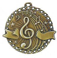 """Music Stock Medal (2"""")"""