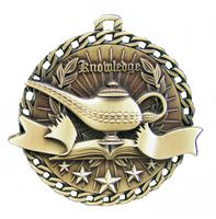 "Lamp of Knowledge Stock Medal (2"")"
