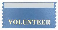 Volunteer Stock Horizontal Badge Ribbon