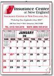Custom Large Size Memo 12 Sheet Calendar w/o Lines