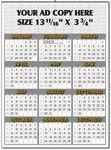 Custom Yearly Calendar (Top Ad Space)