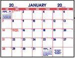 Custom Small 12 Sheet Space Stock Calendar Pad