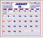 Custom Large Size Memo 12 Sheet Stock Calendar Pad