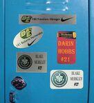 Sublimated DyeSub Magnetic Aluminum Locker Badge/ ID Plate/ Team Metal