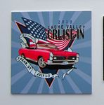 Aluminum ID Plate/ Dash Plaque falling between 4-6.9 sq. in w/ a Full Color, Sublimated imprint.