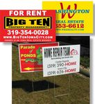 Custom Corrugated Plastic Signs 2-Sided, Full-color