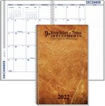 Custom Small Monthly Spiral Bound Planner/Journal Combo