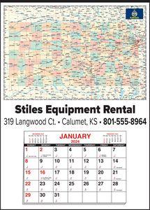 Custom Imprinted Kansas Wall Calendars