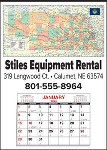 Custom Imprinted Nebraska Wall Calendars