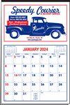 Custom Multi-Sheet 2 Color Just Write Red/Blue Calendar