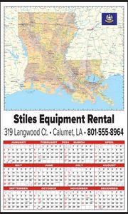 Custom Imprinted Louisiana Wall Calendars