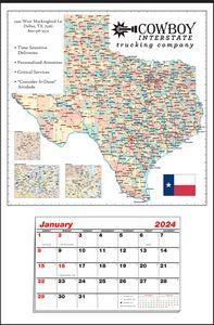 Custom Imprinted Texas Wall Calendars