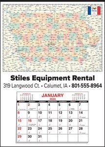 Custom Imprinted Iowa Wall Calendars
