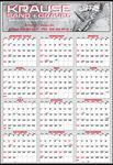 Custom Year-In-View Large 2 Color Calendar