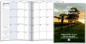 Large Monthly Saddle Stitched Planner