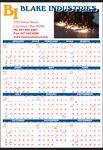 Custom Year-In-View Full Color Ad & Screen Built 2 Color Pad Calendar