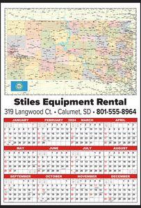 Custom Imprinted South Dakota Wall Calendars