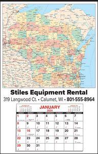 Custom Imprinted Wisconsin Wall Calendars