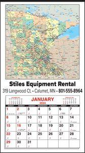 Custom Imprinted Minnesota Wall Calendars