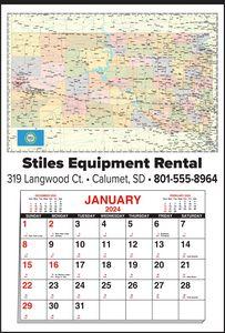 Custom Imprinted North Dakota Wall Calendars
