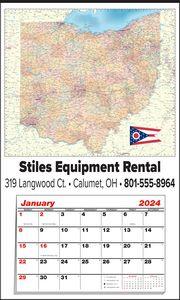 Custom Imprinted Ohio Wall Calendars