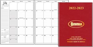 Deluxe Large Monthly Wire Bound Academic Planner