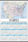 Custom Small U.S. Maps Year-In-View Calendar