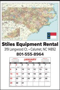 Custom Imprinted North Carolina Wall Calendars