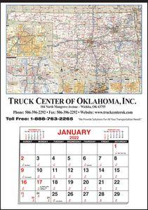 Custom Imprinted Oklahoma Wall Calendars