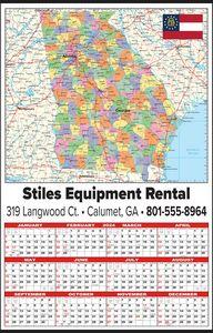 Custom Imprinted Georgia Wall Calendars
