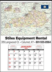 Custom Imprinted Kentucky Wall Calendars