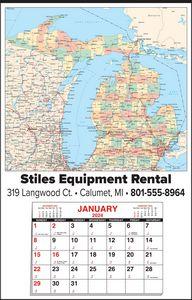 Custom Imprinted Michigan Wall Calendars
