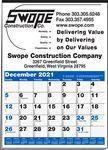 Custom Multi-Sheet 1 Color Large Ad Calendar (Blue & Black)