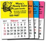 Custom Kwik-Stik Spanish Neon Padded Calendar