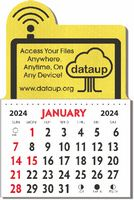 Kwik-Stik Textured Vinyl Calendar w/ Side Dome Top